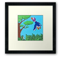 Duck Hunt Purple (Paint 'N' Beads) Framed Print