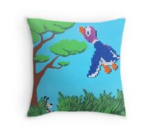 Duck Hunt Purple (Paint 'N' Beads) Throw Pillow