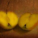2 half apples by Nicole W.