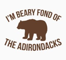 Hilarious 'I'm Beary Fond of the Adirondacks' T-Shirt by Albany Retro