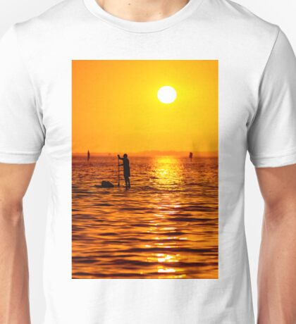 Sunset Paddle Boarder Unisex T-Shirt