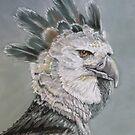 Harpy Eagle in Pastel by Linda Sparks