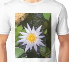 Purple-tinged water lily Unisex T-Shirt