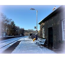 Eggesford Station in Winter Photographic Print