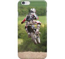 Moto x dirt bike getting big air iPhone Case/Skin