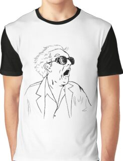 Back To The Future Doc Emmett Brown Sketch Graphic T-Shirt