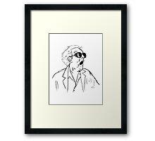 Back To The Future Doc Emmett Brown Sketch Framed Print