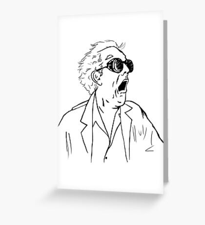Back To The Future Doc Emmett Brown Sketch Greeting Card