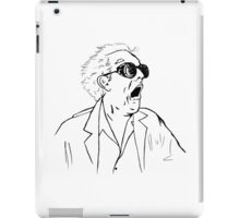 Back To The Future Doc Emmett Brown Sketch iPad Case/Skin