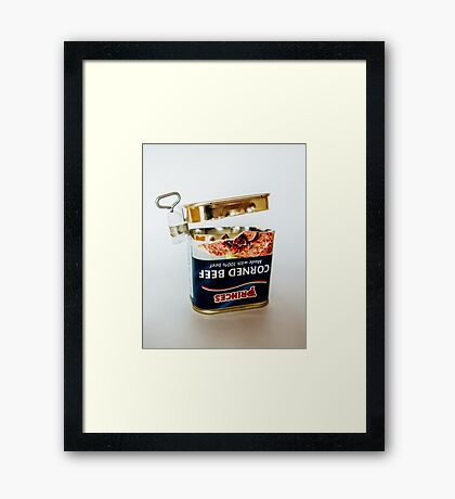 Empty Tin Of Corned Beef Framed Print