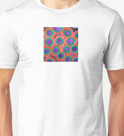 Circles Pattern with Purple Cores Unisex T-Shirt