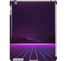 RETROWAVE 80's NEON GLOW GRID PATTERN iPad Case/Skin