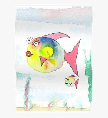 Dicke Fische Poster