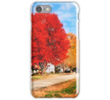 Autumnal Red iPhone Case/Skin