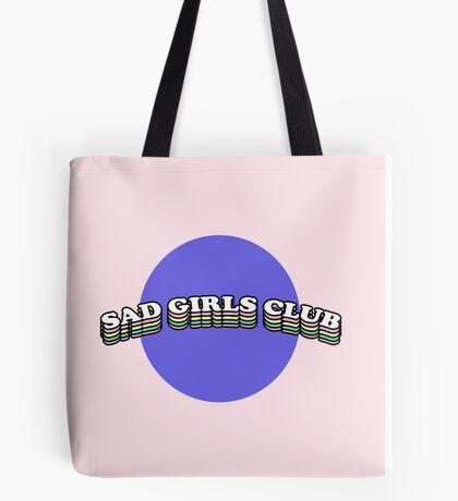 SAD GIRLS CLUB   TRENDY AESTHETICS GRAPHIC TEXT ONLY PRINT Tote Bag