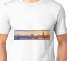 Wexford Town Bridge & harbour skyline, Ireland at Sunset Unisex T-Shirt