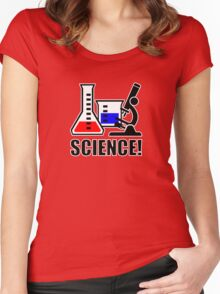Excitement for Science! Women's Fitted Scoop T-Shirt