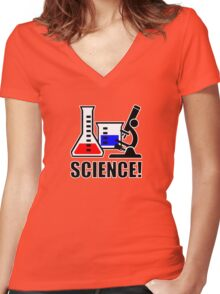 Excitement for Science! Women's Fitted V-Neck T-Shirt
