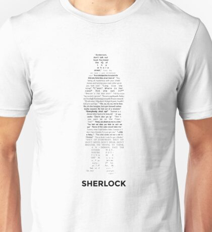 Sherlock - ArtWord of Benedict Unisex T-Shirt