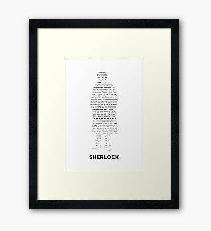 Sherlock - ArtWord of Benedict Framed Print