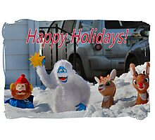 Merry Christmas from Rudolph and crew Photographic Print
