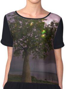 town beach boabab tree lightning  Chiffon Top