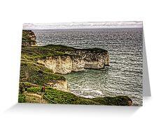 Chalk Cliffs at Flamborough Head Greeting Card