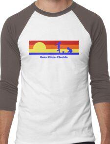 Boca Chica Florida Sunset Beach Vacation Souvenir Men's Baseball ¾ T-Shirt