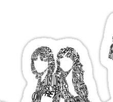 Fleetwood Mac - Rumours // Typographical Ilustration Sticker