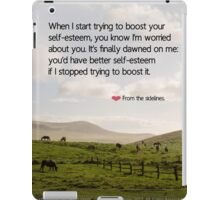 FROM THE SIDELINES iPad Case/Skin