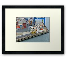 Port Chalmers - tilt shifted Framed Print