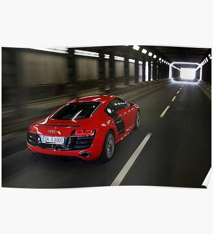 Audi R8 V10 Spyder in Tunnel Poster