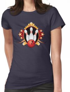 Bowling Womens Fitted T-Shirt