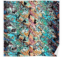 Colorful Distortions Abstract Poster