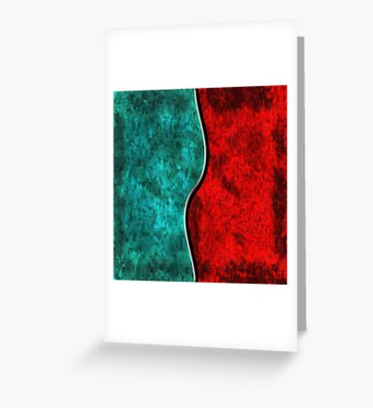 Blood and Water Greeting Card