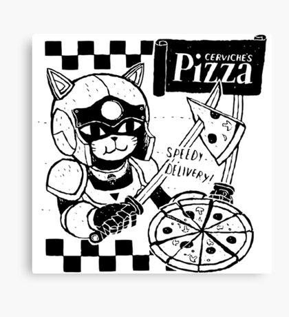 Cerviches Pizza Canvas Print
