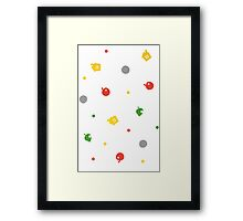 Animal Crossing New Leaf - 3DS Pattern  Framed Print