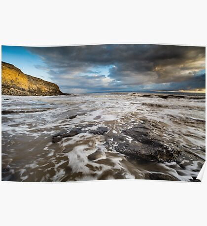 Incoming Tide at Nash Point Poster