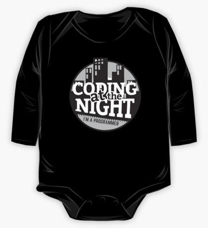 Coding At The Night One Piece - Long Sleeve