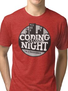 Coding At The Night Tri-blend T-Shirt