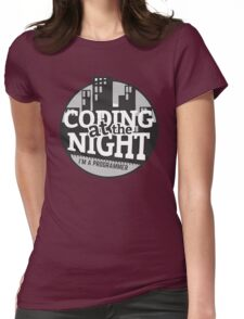 Coding At The Night Womens Fitted T-Shirt