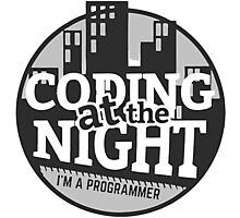 Coding At The Night Photographic Print