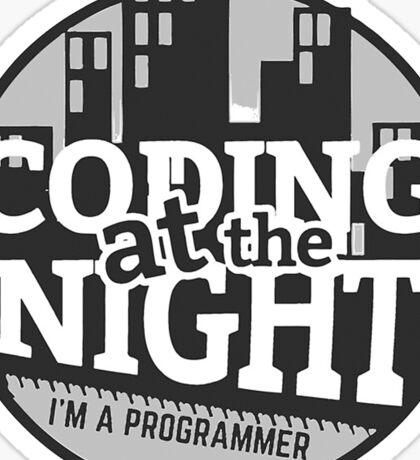 Coding At The Night Sticker