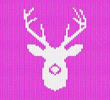 Deer Silhouette in Christmas Ugly Sweater Knitting by Garaga