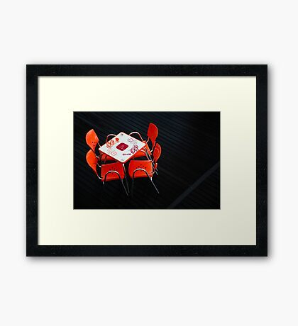 Empty coffee table Framed Print