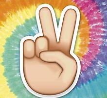 tie dye peace emoji by yuvalhat