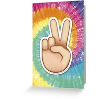 tie dye peace emoji Greeting Card