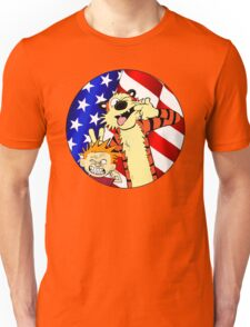 Calvin and hobbes america Unisex T-Shirt