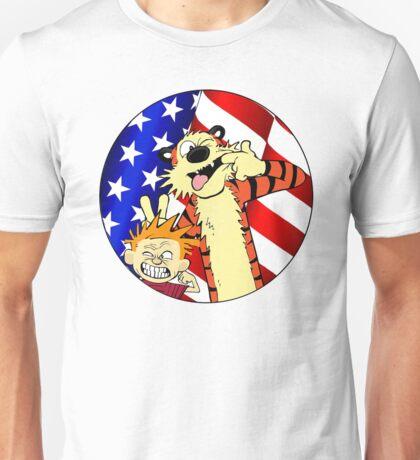 Calvin and hobbes america Unisex T-Shirt