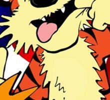 Calvin and hobbes america Sticker